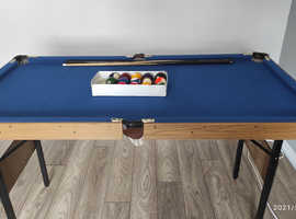 Pool table.