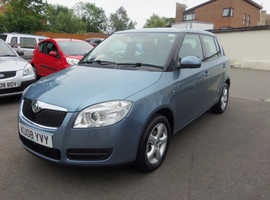Skoda Fabia, 2008 (08) Grey Hatchback, Manual Petrol, 38,000 miles
