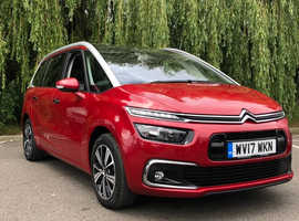 Citroen C4 Picasso, 2017 (17) Red MPV, Manual Diesel, 23,000 miles