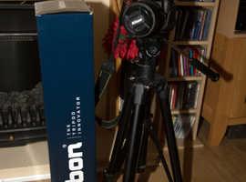Nikon D90 Digital SLR Camera, lens, Tripod, Lowepro Camera Bag.