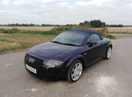 Audi TT QUATTRO (225 BHP), 2002 (52) Blue Convertible, Manual Petrol, 99,000 miles