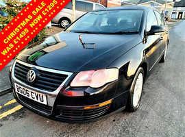 Volkswagen Passat, 2006 (06) Black Saloon, Manual Diesel, 159,899 miles