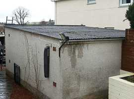 Garage refurbishment Asbestos removal flat roof projects