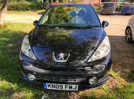 Peugeot 207, 2009 (09) Black Hatchback, Manual Petrol, 97,000 miles