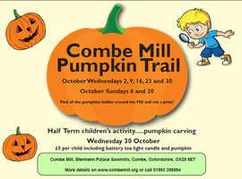Combe Mill Pumpkin events through October 2019