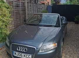 Audi A4, 2006 (06) Grey Convertible, Cvt Petrol, 124,000 miles