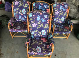 4 comfortable  Cane chairs