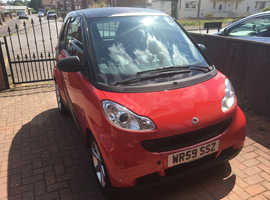 Smart Fortwo Coupe, 2009 (59) Red Coupe, Automatic Petrol, 43,500 miles