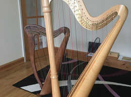 Hourly harp rental, pedal or lever harp