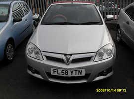 Vauxhall Tigra, 2008 (58) Silver Convertible, Manual Diesel, 110,714 miles