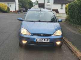 Ford Focus, 2002 (02) Blue Hatchback, Manual Petrol, 228,842 miles