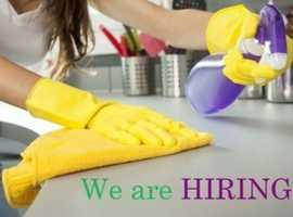 CLEANERS REQUIRED IN WIMBLEDON!!!