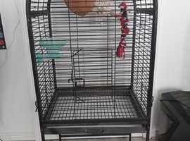 Bird Cage Large Black metal
