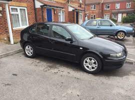 Seat Leon, 2001 (51) Black Hatchback, Manual Petrol, 162,000 miles