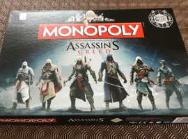 Assassin's Creed Monopoly board game, as new