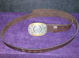 Vintage U.S. belt buckle with leather belt
