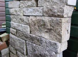 Marshalite Pitch Faced Walling Bricks/Blocks - Buff