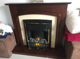 Electric fire suite - very stylish