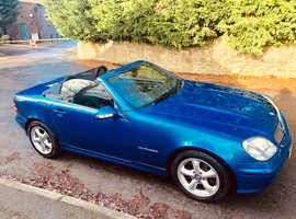 Mercedes Slk, 2001 (Y) Blue Convertible, Manual Petrol, 59,000 miles