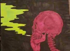 A4 smoking kills original by artist JazArt