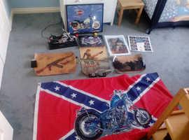 Biker posters/flags/chopper model