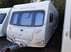 2008 Bailey Senator Indiana, 4 berth fixed bed caravan, awning by Isabella, free extras, serviced, ready to use now