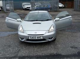 Toyota Celica, 2003 (03) Silver Coupe, Manual Petrol, 120,147 miles