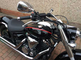 Yamaha xvs950 motorbike