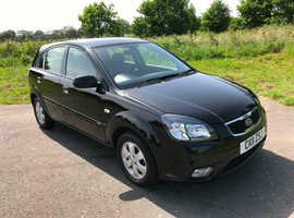 Kia Rio, 2011 (11) Black Hatchback, Manual Diesel, 74,000 miles