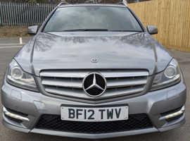 Mercedes C CLASS, 2012 (12) Silver Estate, Automatic Diesel, 77,100 miles