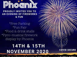 Kent Showground Covid secure Fireworks event 2020