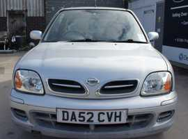 Nissan Micra, 2002 (52) Silver Hatchback, Manual Petrol, 48,584 miles
