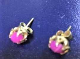 Caberchon Star Ruby   earrings