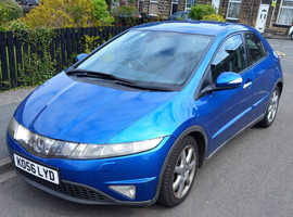 Honda Civic, 2007 (56) Blue Hatchback, Manual Petrol, 188,000 miles