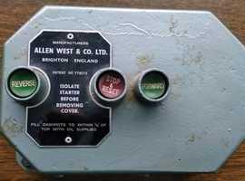 Allen West Direct On Reversing Starter 3 phase never used