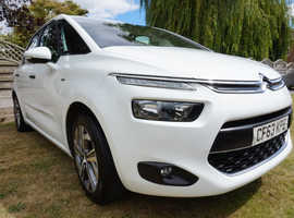 Citroen C4 Picasso HDI AIRDREAM, 2014 (63) White MPV, Manual Diesel, only 64,000 miles
