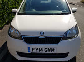 Skoda Citigo SE, 2014 (14) White Hatchback, Manual Petrol, 62,303 miles