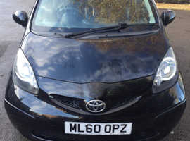 Toyota Aygo, 2010 (60) Black Hatchback, Manual Petrol, 59,000 miles