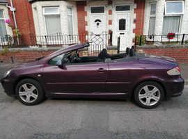 Peugeot 307, 2004 (04) Purple coupe, Automatic Petrol, 86026 miles
