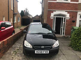 Hyundai Getz, 2008 (58) Black Hatchback, Manual Petrol, 63,000 miles