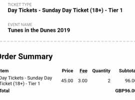 2 x Madness Tunes in the Dunes tickets - Perranporth beach 26th May