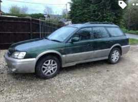 Subaru LEGACY OUTBACK AWD AUTO, 2000 (W) Green estate, Automatic Petrol, 120,000 miles