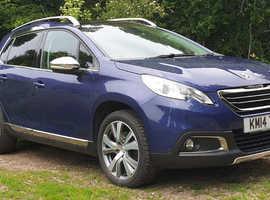 Peugeot 2008, Feline Calima 2014 (14) Blue HDi, 115BHP,  6 Speed Manual, 53,000 miles