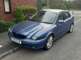 Jaguar X-TYPE, 2002 (02) Blue Saloon, Manual Petrol, 46,000 miles