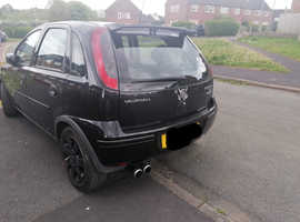 Vauxhall Corsa, 2005 (05) Black Hatchback, Manual Petrol, 112,000 miles