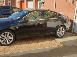 Vauxhall Insignia, 2013 (63) Black Hatchback, Manual Diesel, 87,000 miles