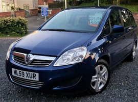 Vauxhall Zafira 1.6 Petrol Exclusiv 2009 *1 Year Warranty* 7 Seater 73K
