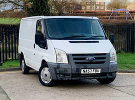 2007 (57) FORD TRANSIT 280 swn lr 2.2 DIESEL 5 Dr in WHITE, NEW MOT, CLEAN NICE DRIVING VAN