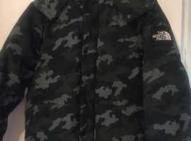 North face padded jacket coat