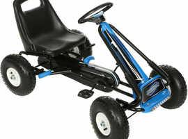 BRAND NEW Blue Slipstream Childrens Kids Go Kart With Hand Brake Steel Frame For 5+ Years